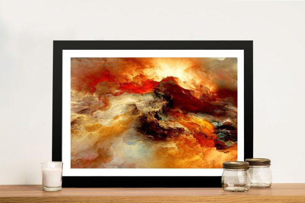 Heavens Inferno Abstract Wall Art