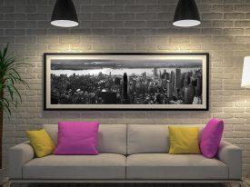 Buy Black & White NYC Skyline Panoramic Art