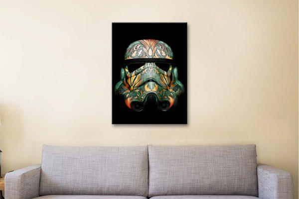 Painted Stormtrooper Canvas Artwork