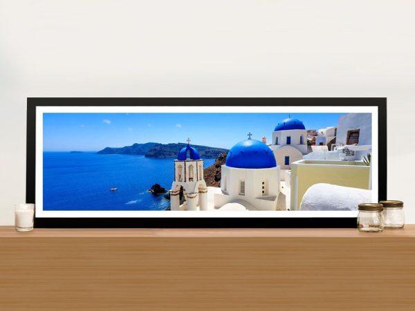 Buy Affordable Santorini Panoramic Wall Art AU