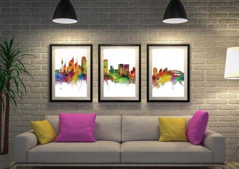 Sydney Skyline Wall Art by Michael Tompsett AU