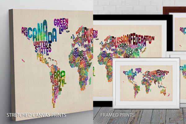 Text Map Quality Print