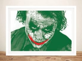 The Joker Heath Ledger Movie Poster Print