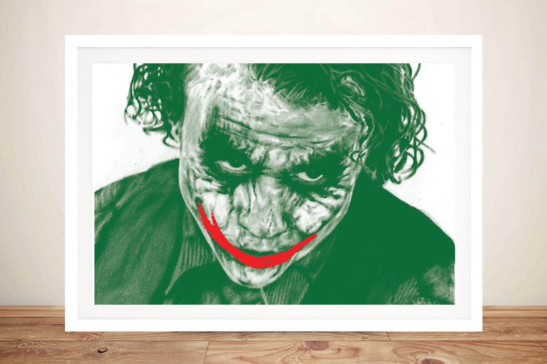 The Joker Heath Ledger Movie Poster Print