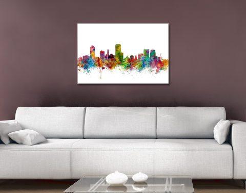 Wellington Skyline Canvas Print