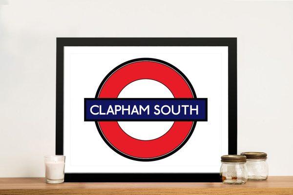 Buy a Clapham London Underground Print AU