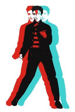 Elvis Presley Andy Warhol Style Pop Art Canvas Print