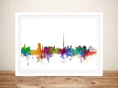 Buy Colourful Dublin Skyline Wall Art Online