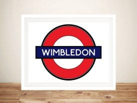 Buy Wimbledon London Underground Framed Art