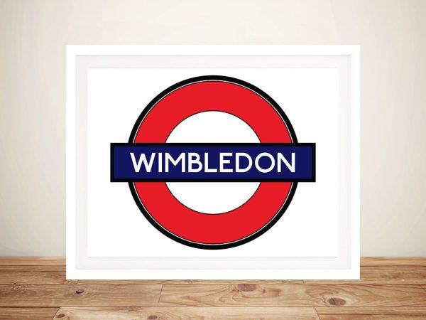 Buy Wimbledon London Underground Framed Art