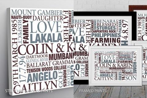 Word art Quality Image Print