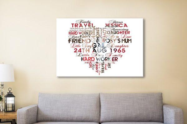 Custom Photo Word Canvas Artwork