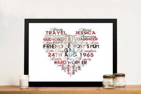 Custom Photo Word Artwork Sydney