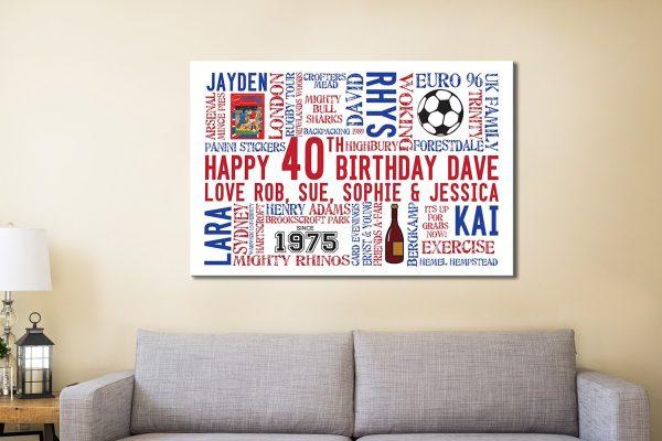 Custom birthday word art Canvas Print