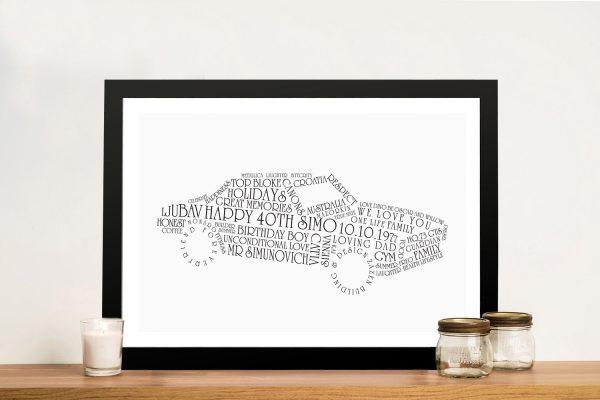Car shaped Framed Wall Art