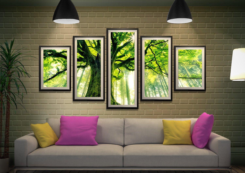 Forrest 5 Piece Canvas Print Set