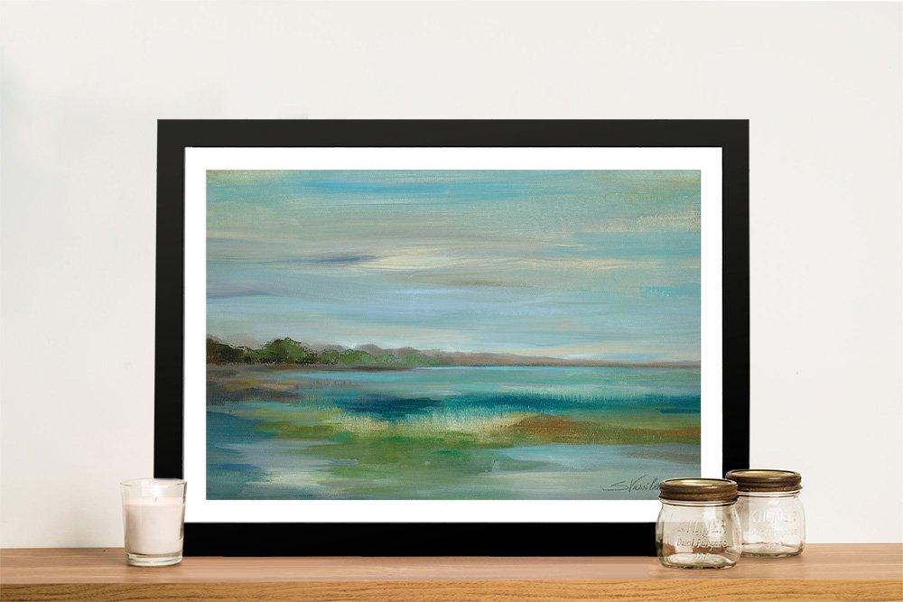 Buy an Emerald Lagoon Framed Print on Canvas