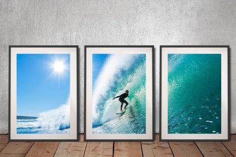 The Ride Surf 3 Piece Canvas Prints