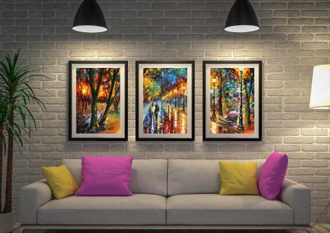 when dream came true afremov Triptych wall art