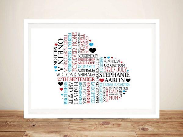 Personalised Heart Shape Wall Art