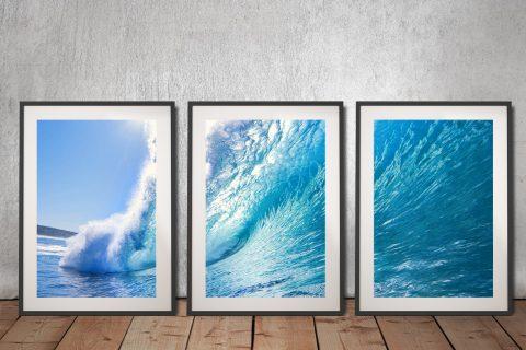 Buy Surf Haze Affordable Triptych Artwork Online
