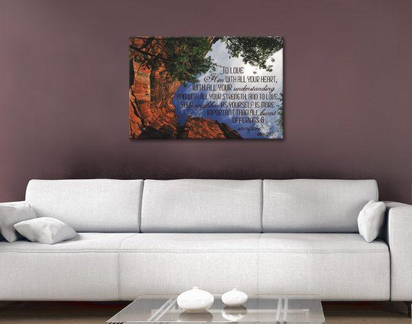 Bible Quote Canvas Artwork