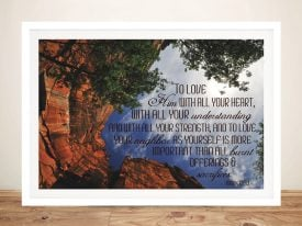Bible Quote Framed Wall Art