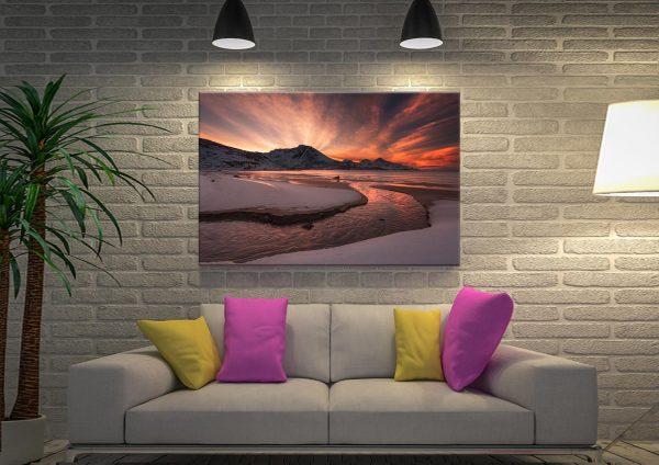 Dawn Beach Canvas Artwork