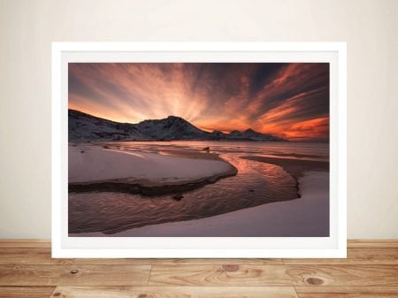 Dawn Beach Framed Wall Art