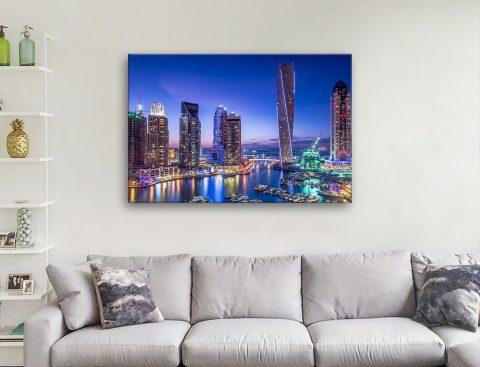 Dubai Marina Artwork Ready to Hang Print