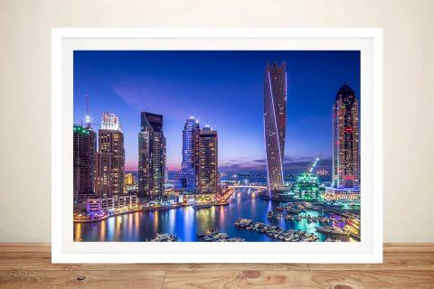 Buy Dubai Marina Skyline Wall Art