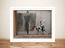 Buy Peeking Kids Banksy Framed Street Art