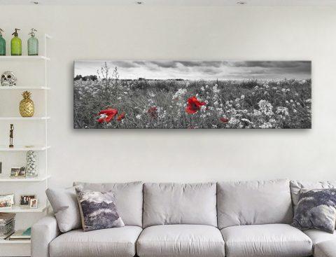 Buy Poppy Field Cheap Panoramic Prints Online