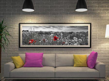 Buy Poppy Field Panoramic Canvas Art