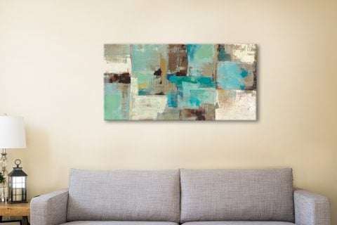 Teal and Aqua Reflections Silvia Vassileva Canvas Prints