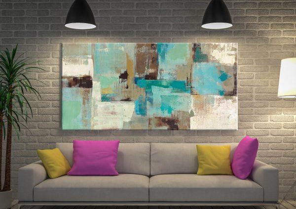 Teal and Aqua Silvia Vassileva Wall Art Sydney