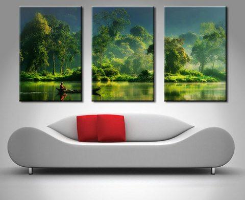 Buy Jungle Lifeline 3-Panel Canvas Art
