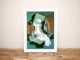 Bottle and Fruit Bowl Juan Gris Wall Art