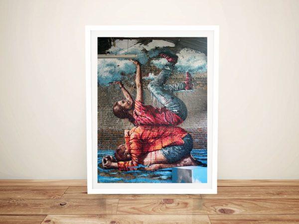 Buy Brisbane Floods Framed Street Art