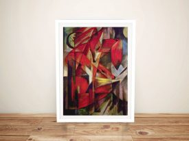 Buy Foxes by Franz Marc Ready to Hang Wall Art
