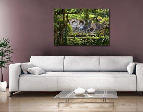 Gunung Kawi Temple Bali Canvas Artwork
