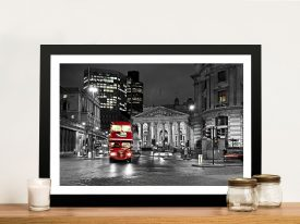 London red colour splash Framed Art