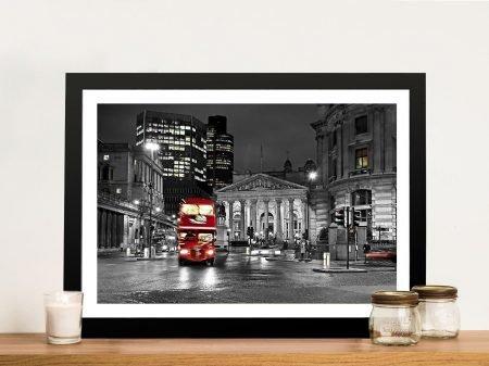London red colour splash Framed Art