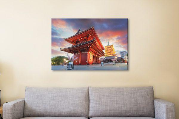 Senso-ji Temple Religious Wall Art Online
