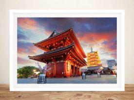 Senso-ji Temple Japanese Canvas Art