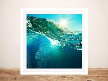 Buy Fluid Waves Framed Seascape Wall Art