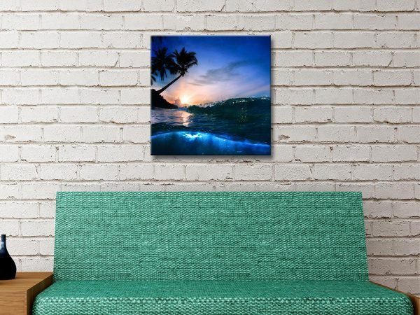 Beach at Night Breaking Waves Art for Sale Online