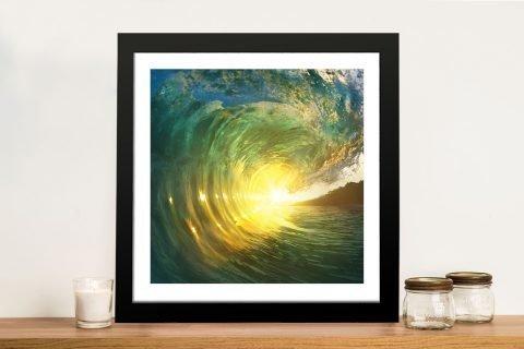 Breaking Waves No.3 Sunset Art Print