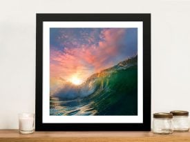 Buy a Breaking Waves Striking Framed Print