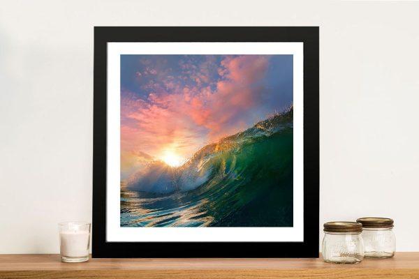 Buy a Breaking Waves Striking Framed Print